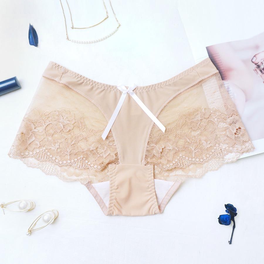 【美背包覆】無痕蕾絲平口內褲