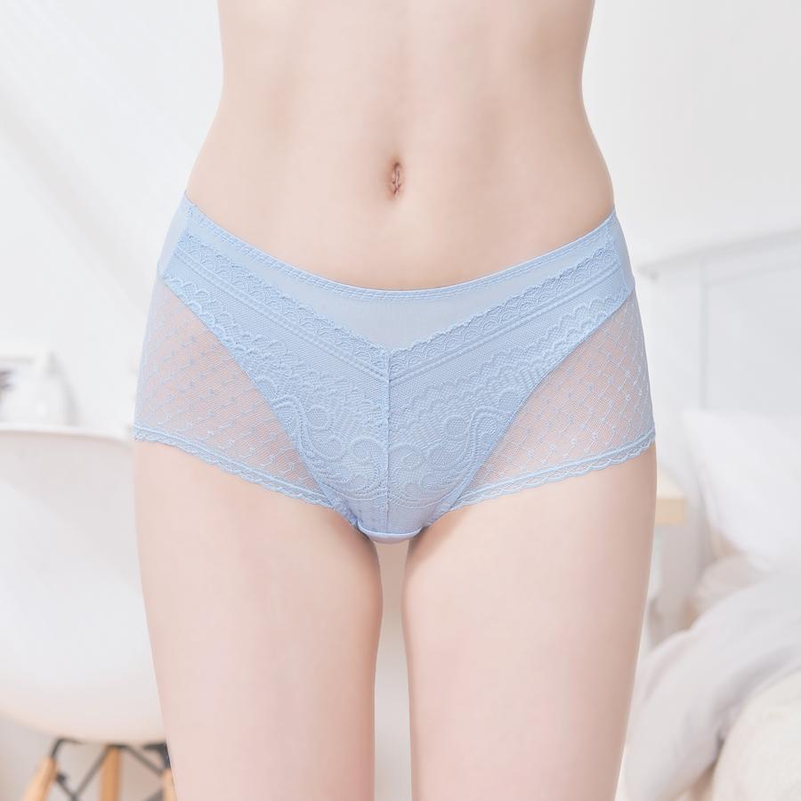 【A+手捧】無痕蕾絲平口內褲