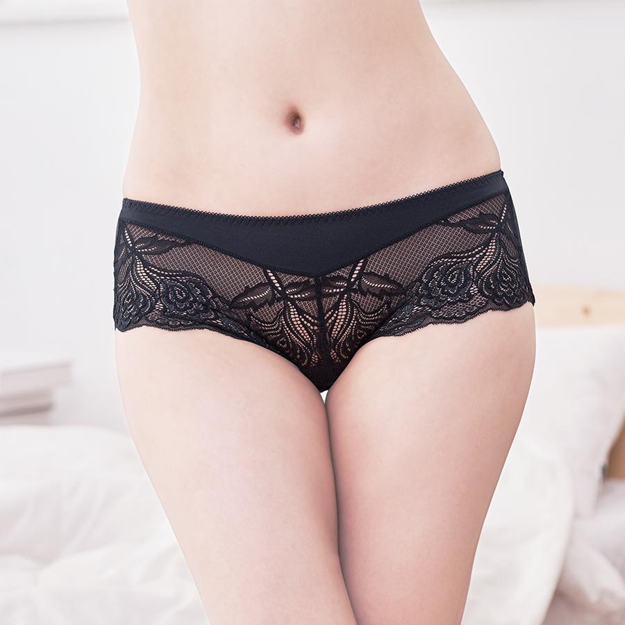 【A+手捧】蕾絲彈性平口內褲