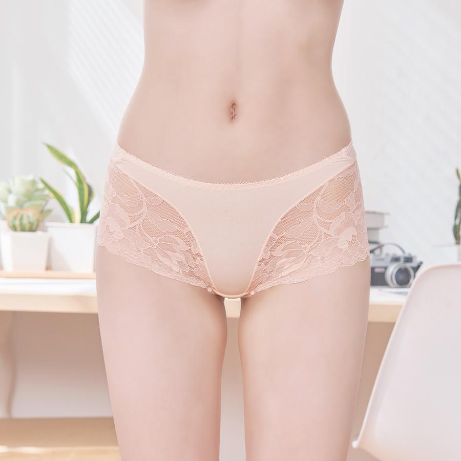 【花漾蕾絲】無痕蕾絲平口內褲